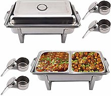 KingSaid Pack Of 2 Stainless Steel Chafing Dish