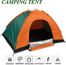 Kingso - 3-4 Person PopUp Double Layer Dome Tent