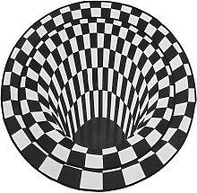 Kingso - 3D Bottomless Hole Area Rug Carpet Round