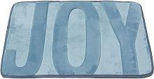 Kingso - Coral fleece memory rug 40x60 cm Blue