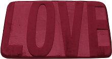 Kingso - Coral fleece memory rug 40x60 cm Red