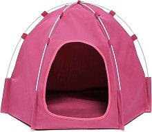 Kingso - Pop Up Pop Up Dog Tent Pink Cat Hasaki