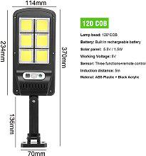 Kingso - Solar Street 120COB Light PIR Motion