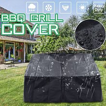 Kingso - Waterproof Black Gas Grill Cover Barbecue