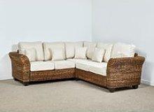 Kingston Abaca 216cm x 216cm Rattan Corner Sofa in
