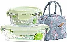 Kingtuhua Glass Lunch Box,Bento Box Glass Lunch