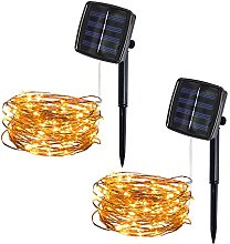 KINGWani ❤ 5M 50Lights Outdoor Solar Copper Wire