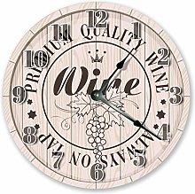 Kinhevao 10 inch Barrel of Wine Clock - Large 10