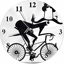 Kinhevao Comic Round Wall Clock,Funny Long