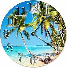 Kinhevao Large 10 inch Wall Clock Decorative Round
