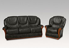 Kinzer 2 Piece Sofa Set Ophelia & Co. Colour: Black