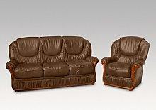 Kinzer 2 Piece Sofa Set Ophelia & Co. Colour: Brown