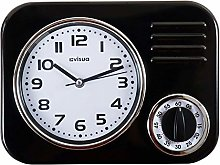KIRA Metal Retro Kitchen Clock with Mechanical