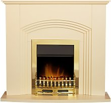 Kirkdale Fireplace in Cream with Blenheim Electric