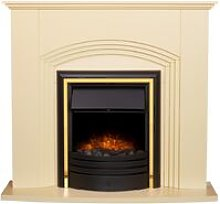 Kirkdale Fireplace in Cream with Cambridge 6-in-1