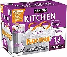 Kirkland 13 Gallon Trash Bag, 200 Count,