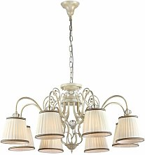 Kirkland 8-Light Shaded Chandelier ClassicLiving