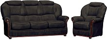 Kirwin 2 Piece Sofa Set Ophelia & Co. Colour: Black