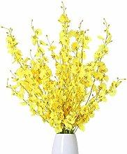 Kisflower 12Pcs Artificial Orchids Flowers Silk