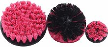 Kissherely 3 Piece Drill Brush Attachments Set