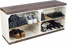 Kistenkolli Altes Land Shoe rack with bench made