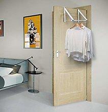 Kit Closet Coat Rack Invisible Door, White