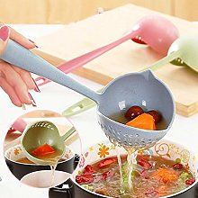 Kitchen 2 in 1 Hot Pot Soup Spoon Colander Daily
