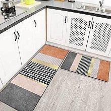 Kitchen Area Rug Non-slip Set, Modern geometric