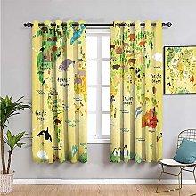 kitchen art Living Room Blackout Curtains,