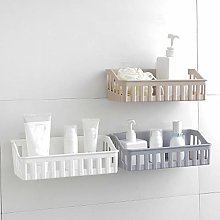 Kitchen Bathroom Wall Storage Shelf Hanging Rack