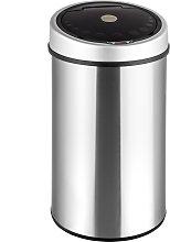 Kitchen bin with sensor - silver, 50 L