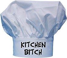 Kitchen Bitch Funny Chef Hat   White Toque