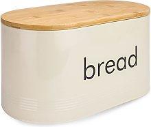 Kitchen Bread Bin with Bamboo Chopping Board Lid |
