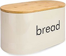 Kitchen Bread Bin with Bamboo Lid | Vintage Style