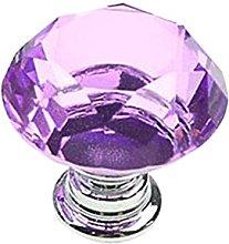 Kitchen Cabinet Drawer Knobs 30mm Crystal Glass