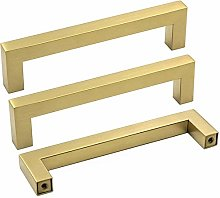 Kitchen Cabinet Handles Gold 15 Pack 128mm Hole