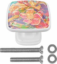 Kitchen Cabinet Heavy Knobs 4 Pack ABS Glass