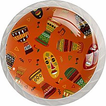 Kitchen Cabinet Knobs 4 Pack Round Glass Drawer