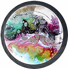 Kitchen Cabinet Knobs - Abstract Painting - Knobs