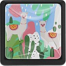 Kitchen Cabinet Knobs - Alpaca with Plant(2) -