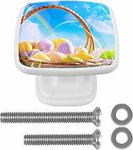 Kitchen Cabinet Knobs - Art Easter Eggs On Basket