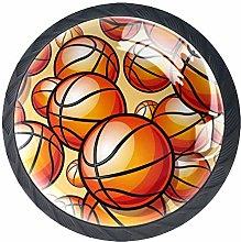 Kitchen Cabinet Knobs - Basketball Orange - Knobs