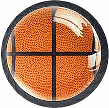 Kitchen Cabinet Knobs - Basketball Orange Sport -