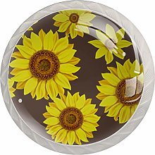 Kitchen Cabinet Knobs - Beautiful Yellow Flower -