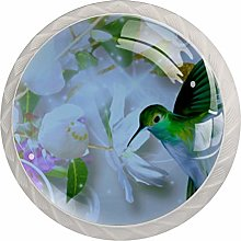 Kitchen Cabinet Knobs - Butterfly with Flower
