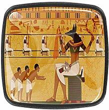 Kitchen Cabinet Knobs - Cartoon Antique Egypt -