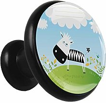Kitchen Cabinet Knobs Cartoon Cow Wardrobe Knobs