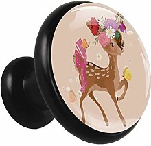 Kitchen Cabinet Knobs Cartoon Deer Wardrobe Knobs