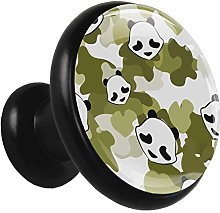 Kitchen Cabinet Knobs Cartoon Panda Head Wardrobe