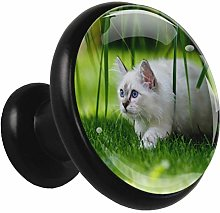 Kitchen Cabinet Knobs Cat Grass Wardrobe Knobs
